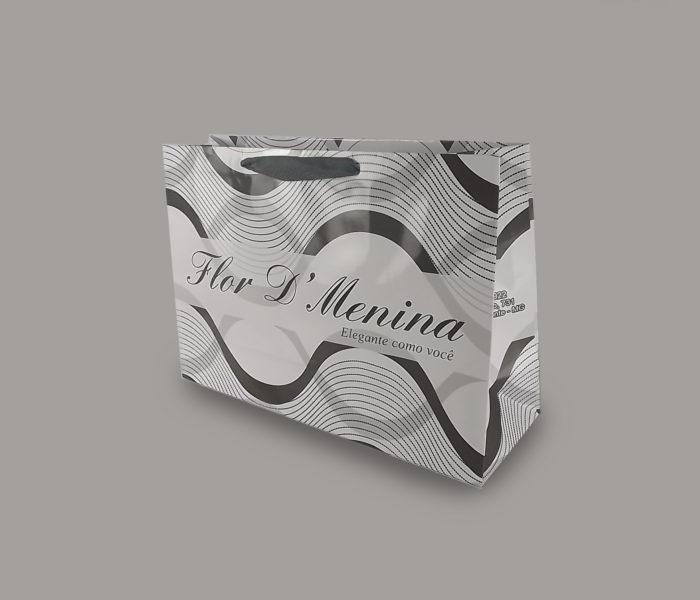 sacola de papel para loja de sapatos